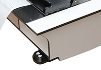 Height-adjustment control for the table is mounted on the right side of the table.