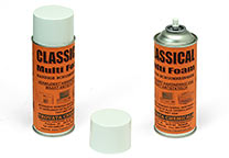 Glass cleaner, detergent foam in spraycan