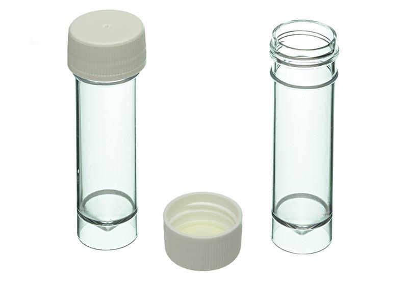 Plastic container met kegelvormige bodem 9 5 cm 22 mm op for Plastic doosjes