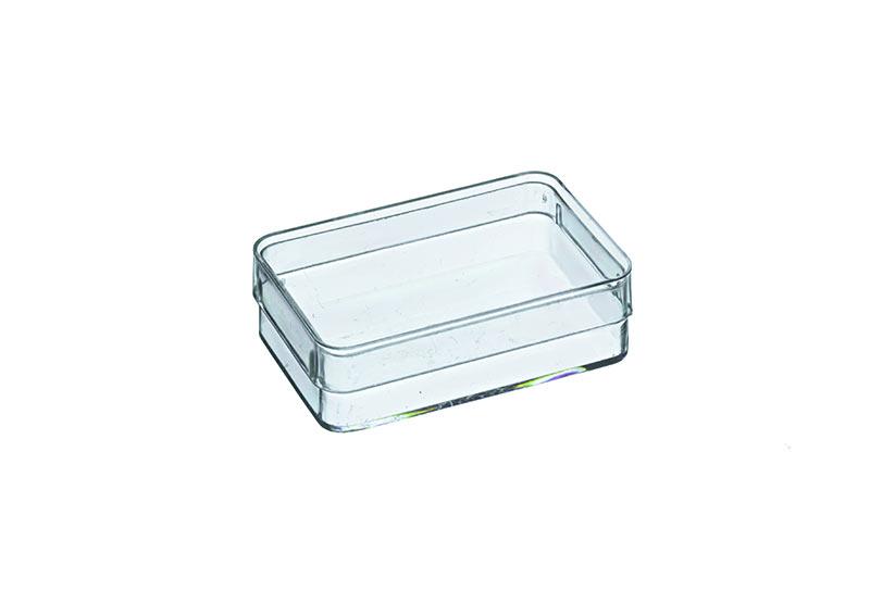 Polystyreen doos met deksel c 84000 5 7 x 3 6 x 1 7 cm for Plastic doosjes