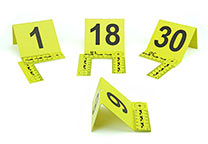 Evidence markers with numbers