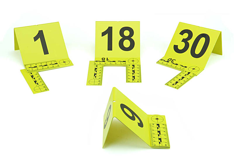 Cards:7cm x 4cm Novelty Barrier Tape and Evidence Frames,Markers . Police Kit