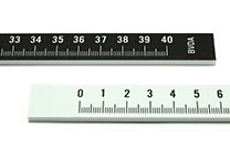Photo ruler (E-47000), 40 cm. One side black, other side white.
