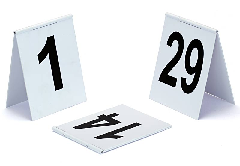 Number signs (several number ranges available) tent design with hinge on the top. White with black printing. Dimensions 9 x 11 cm.  sc 1 st  BVDA & BVDA - Evidence marking