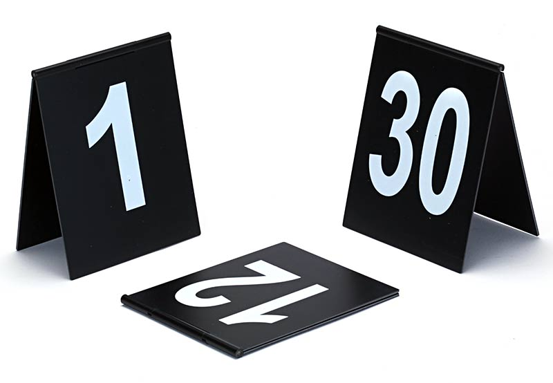 Number signs (several number ranges available) tent design with hinge on the top. Black with white printing. Dimensions 9 x 11 cm.  sc 1 st  BVDA & BVDA - Evidence marking